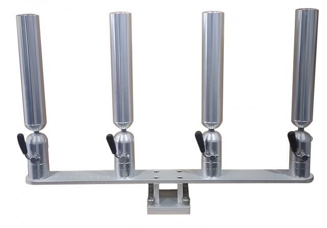 Aluminum adjustable rod holder track mount quad holder for Cisco fishing systems