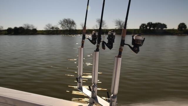Aluminum adjustable rod holder triple rod holder cisco for Cisco fishing systems